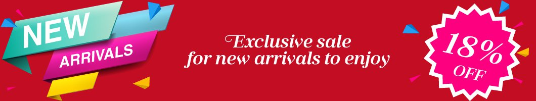 New Arrivals<br/> All 18% OFF