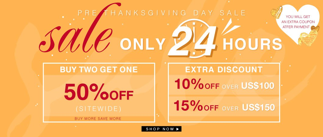 Pre Thanksgiving Day Sale