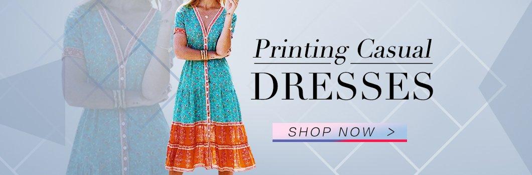 Printing Casual Dresses