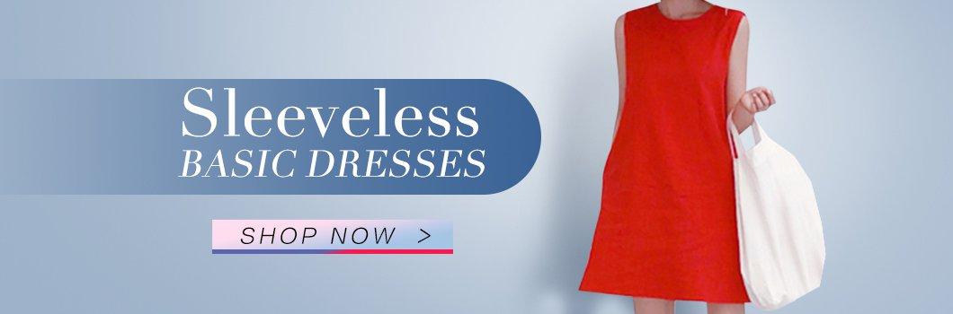 Sleeveless Basic Dresses
