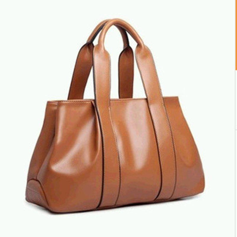 Women Leather Casual High Capacity Handbag Shopping Crossbody Bag