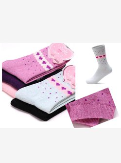 Polka Dots Printed Wool Blend Casual Cotton Socks