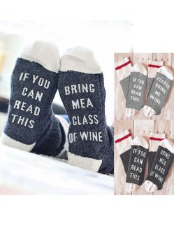 Creative Letter Printed Casual Cotton Stockings