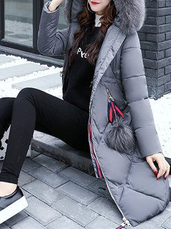 Women's Fur Shearling Down Jacket Long Coat