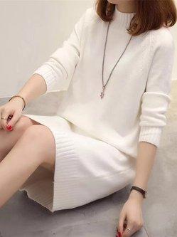 Long Sleeve Elegant Sheath Dress