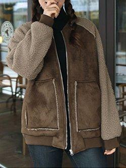 Simple Cotton-blend Long Sleeve Coat