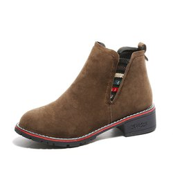 Low Heel Suede Casual Slip On Warm Boots