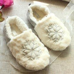 Snowflake Winter Casual Fur Slip On Slippers