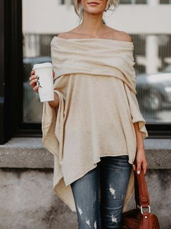 Asymmetric Off Shoulder Sexy Batwing Tunic Top
