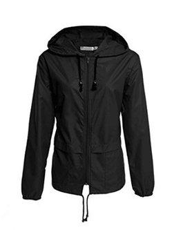Solid Long Sleeve Zipper Hoodie Simple Jacket