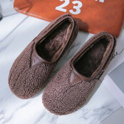 Soft Curly Plush Slip On Warm Loafers