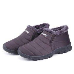 Waterproof Cloth Unisex Fur Lining Boots