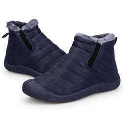 Unisex Waterproof Fur Lining PU Boots