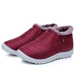 Women Waterproof Cloth Slip On Boots