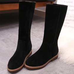 Casual Slip On Suede Mid-calf Boots