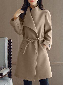Long Sleeve Turn-down Collar Long Coat
