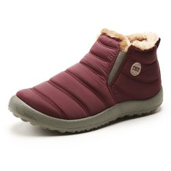 Unisex Waterproof Fur Lined Snow Boots