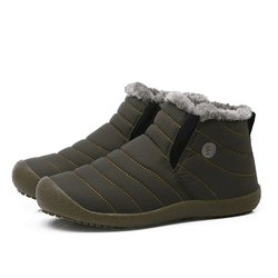 Large Size Waterproof Unisex Fur Lined Slip On Boots