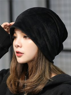 Velvet Casual Solid Hat
