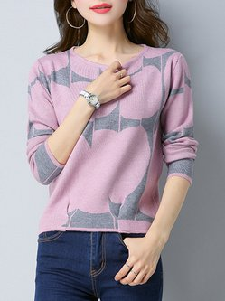 Long Sleeve Crew Neck Knitted Sweater
