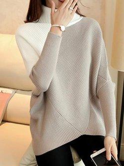 Asymmetrical Batwing Knitted Cardigan