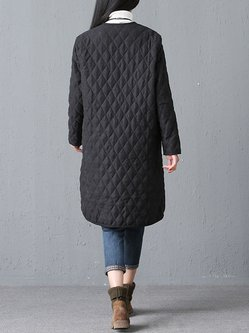 Casual Linen Buttoned Long Sleeve Coat