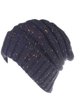Color Mixed Casual Women Knitted Cap