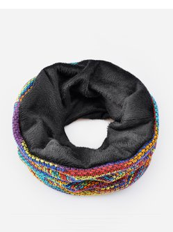 Unisex Color-block Dual Use Scarf Beanie Hats