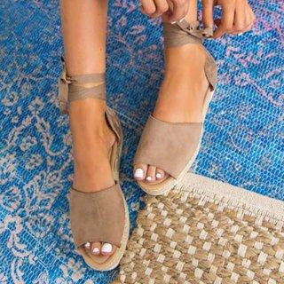 open toe tie up espadrilles