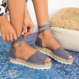 Plus Size Espadrilles Sandals Peep Toe