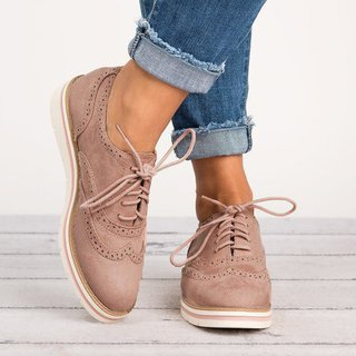 Women's Lace Up Perforated Oxfords