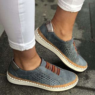 attractive & durable high fashion latest discount Slide Hollow-Out Round Toe Casual Women Sneakers