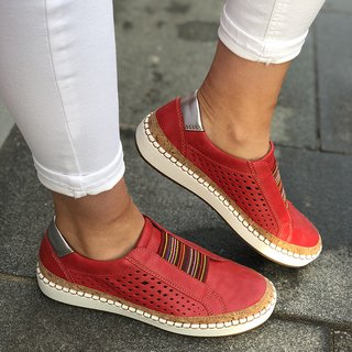 adf80240f76df Slide Hollow-Out Round Toe Casual Women Sneakers