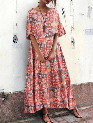 Printed Holiday Dresses