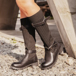 Comfy Cabin Sweater Boots Vintage PU