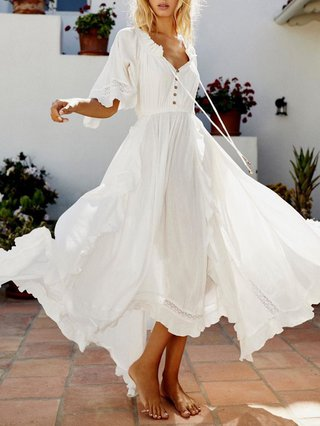 Bohemian Vacation Plus size cotton dress