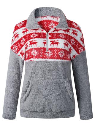 Christmas Hoodies.Plus Size Long Sleeve Christmas Hoodies
