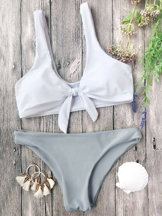 Padded Bralette Bow Knotted Bikini