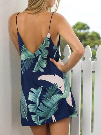 Sirens Of The Sea Dark Blue Spaghetti Dress