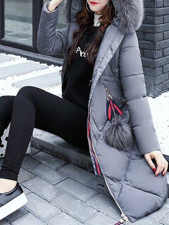Women's Fur Shearling Down Jacket Long Coat