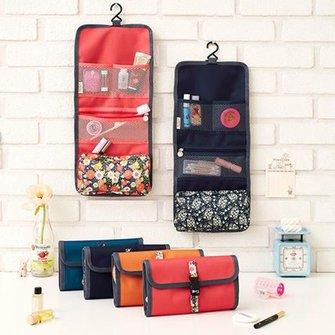 Hanging Cosmetics Foldable Makeup Bag Toiletries Pockets Compartment Travel Organizer Storage Bag & Polyester Fashion Bags 2017 | JustFashionNow