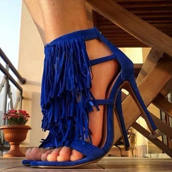 Women  Flocking Pumps Sandals Gladiator Zipper Shoes