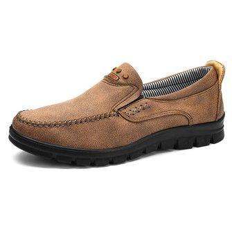eb194012b64 Large Size Men Comfy Microfiber Fabric Soft Slip On Casual Shoe