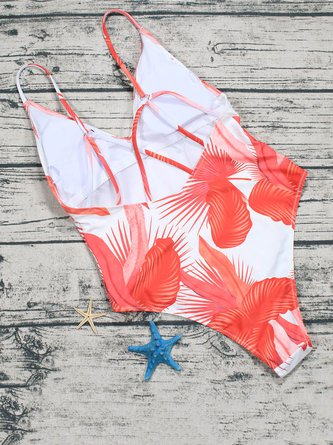 Orange Ombre Cross One-piece
