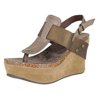 Large Size Buckle Casual Wedge Sandals