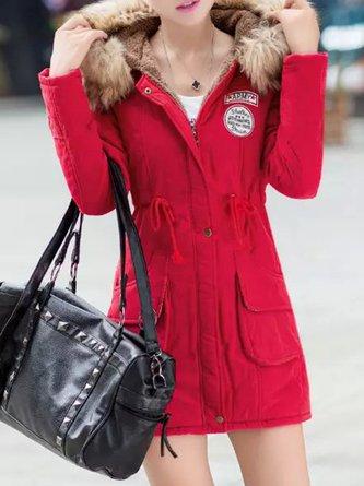 Women's Quilted Coat Thicken Warmth Hooded Slim Coat