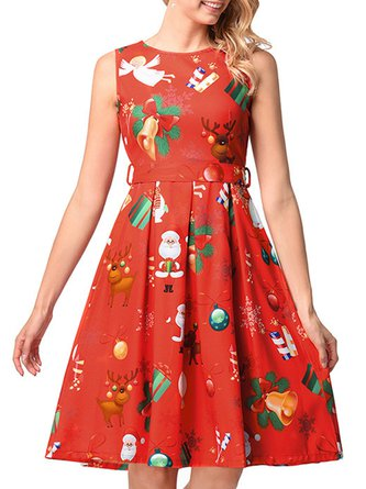 Orange Christmas Dress