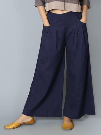 4a0ecccc42e Summer Dresses.  33.03. Women Pants Pockets Pleated Details Casual Wide Leg  Pants