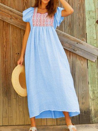012908564a7f7 Boho Dress Tribal Print Square Neck Summer Maxi Dresses