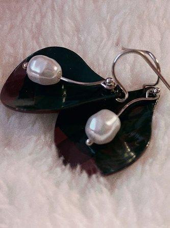 Green Vintage Alloy Earrings